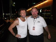 Paul Rodgers along with one of the Jester's he sings about.